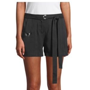 NWT Laundry by Shelli Segal Black Tie Waist Shorts
